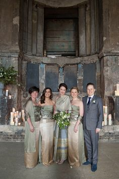 Images by Joanna Brown Photography Bridesmaids wear bespoke Thai silk dresses. Images by Joanna Brown Photography Thai Wedding Dress, Wedding Bridesmaid Dresses, Wedding Party Dresses, Bridesmaid Ideas, Party Wedding, Dress Party, Laos Wedding, Cambodian Wedding, Wedding Blog