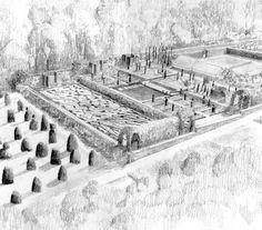 Tom Stuart-Smith  North Oxfordshire garden,Beautiful axonometric drawing...Love..