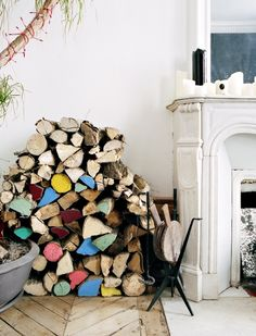 colorful firewood