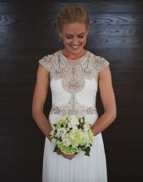 Bel wearing a Hope wedding dress by Gwendolynne - image: www.scoutandsons.com.au