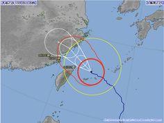 台風23号 2013年10月6日 6時時点