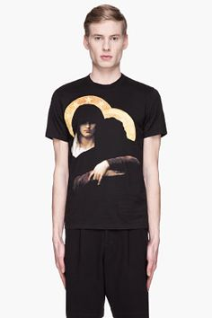 GIVENCHY Black and gold gangsta madonna print