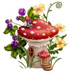 Mushroom House, Mushroom Art, Pretty Flowers, Silk Flowers, Animated Smiley Faces, Kylie Birthday, Sunflower Wallpaper, Baby Room Design, House Drawing