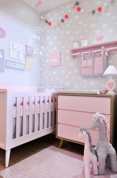 20 Latest Trend for Cute Baby Girl Room Ideas - Home Decor Ideas Baby Bedroom, Baby Room Decor, Nursery Room, Girls Bedroom, Bedroom Decor, Nursery Themes, Nursery Ideas, Bedroom Furniture, Baby Room Colors