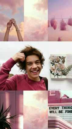Harry styles pink lockscreen everything will be alright