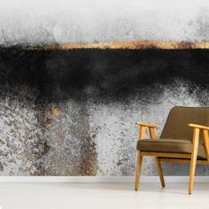 Be amazed at this on-trend Soot and Gold wallpaper. It's custom-made, supplied in panels, easy to install as well as being truly gorgeous. FREE UK delivery within 2 to 4 working days. Geometric Wallpaper Murals, Gold Wallpaper, Textured Wallpaper, Art Mural, Wall Murals, Living Room Wall Designs, Living Rooms, Gold Wall Decor, Chimney Breast