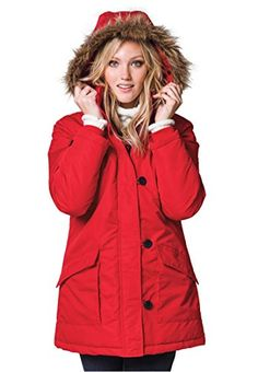 3551f2ce985b3 Ellos Women s Plus Size Taslon Faux-Fur Hooded Jacket Faux Fur Hooded Jacket
