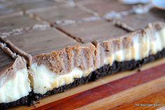 Nutella cheesecake layer bars.