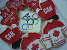 olympic cookies - Go Canada!