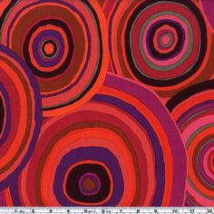 Kaffe Fassett Targets Red from @fabricdotcom  Kaffe Fassett is known for his bold prints and great sense of color. Colors include sludge, red, purples, oranges, brown and maroon.
