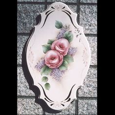 photo Stencil Painting, Tole Painting, Shabby Chic Flowers, Easy Paintings, Cute Art, Paper Flowers, Folk Art, Beautiful Flowers, Stencils