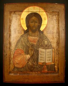 Christ Pantocrater  Origin: Russia Circa: 18 th Century AD to 19 th Century AD Collection: Russian Icons Medium: Oil on Wood Panel