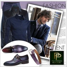 Men's Luxury Shoes and Belts by Paul Parkman by deeyanago on Polyvore featuring polyvore, fashion, style, TheLees, PS Paul Smith and SELECTED