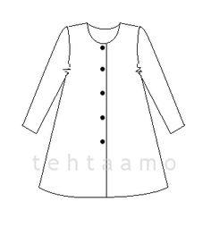 t e h t a a m o: Mekkotakki Sewing Hacks, Sewing Tips, Diy Clothes, Diy Crafts, Handicraft Ideas, Handmade, Tops, Patterns, Women