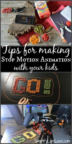Stop motion animation is a fun way to engage children in creativity and learning. Check out these 5 best tips for creating awesome videos with your kids! #goldfishmoments #ad