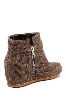 DV By Dolce Vita Keebly Perforated Wedge Bootie