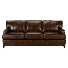 Arcata Leather Sofa, Quick Ship, Omni Brown ,  , large