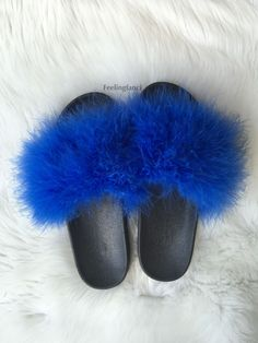 4ff636ac8305 21 Best    Real Fur Slides    images