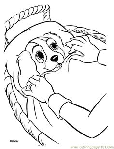 Lady and the Tramp coloring pages. Disney coloring pages. Coloring pages for kids. Thousands of free printable coloring pages for kids! Horse Coloring Pages, Coloring Pages For Girls, Cartoon Coloring Pages, Coloring Pages To Print, Colouring Pages, Printable Coloring Pages, Coloring Books, Colorful Drawings, Colorful Pictures