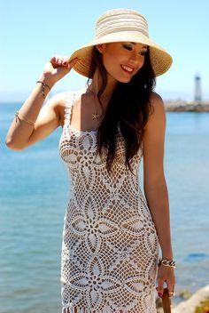 Hapa Time (california) + Emma O Clothing + ( Hats Lace Dresses ) Mid Dress, Lace Dress, Sexy Dresses, Cute Dresses, Hapa Time, Jessica Ricks, Crochet Woman, Fashion Essentials, Crochet Fashion