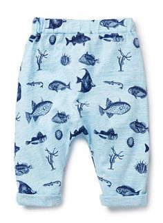 100% Cotton harem pant. Features all over Fish yardage print and elasticated waist.
