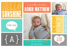 A special gift that will be treasured for life.   http://www.littleskylark.com.au/collections/custom-birth-prints