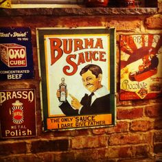 Tin and enamel advertising signs I love and collect