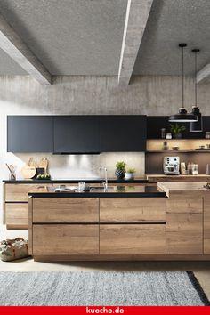 Kitchen Room Design, Interior Design Kitchen, Kitchen Dining, House Extension Design, House Design, Black Kitchens, Home Kitchens, Modern Mountain Home, Tiny House Cabin