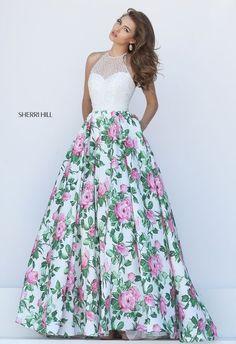 82a2af8fa7 Floral prom dress sherri hill on sale Vestidos Elegantes