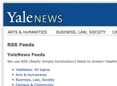 Yale Podcasts, Netcasts and RSS Feeds.