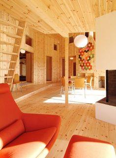 Knotty Pine Norwegian Cabin