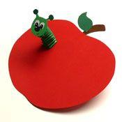 Wurm (Hexentreppe) im Apfel