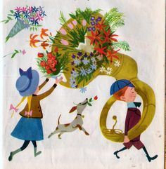 """Little Boy with a Big Horn"", Little Golden Book, 1950    Story by Jack Bechdolt  Illustrations by Aurelius Battaglia"