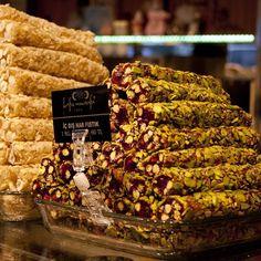 Lokum @ Hafiz Mustafa 1864 by sirkecisnax, via Flickr Turkish Recipes, Ethnic Recipes, Turkish Sweets, Hafiz, Turkish Delight, Pulled Pork, Candies, Istanbul, Panna Cotta