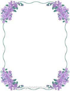 printable lilac border use the border in microsoft word or other programs for creating flyers