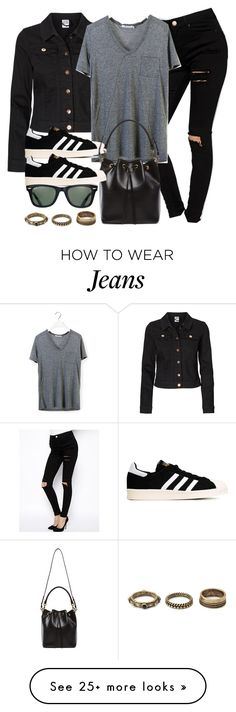 """""""Style #9634"""" by vany-alvarado on Polyvore featuring Vero Moda, ASOS, T By Alexander Wang, adidas Originals, Yves Saint Laurent, Ray-Ban and Forever 21"""