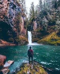 Tokatee Falls in Oregon