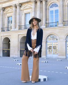 fringe jacket with suede pants