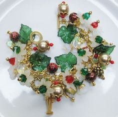 My Handcrafted Holiday/Christmas Charm Bracelet (9)