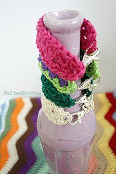 Felted Button - Colorful Crochet Patterns: ::Trek Bracelet--Free Crochet Pattern::