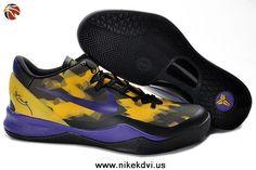 Nike Zoom Kobe VIII (8) 555035-103 Black Purple Yellow Factory Outlet