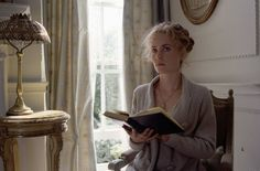 """Radha Mitchell reading as Mary Ansell Barrie in Finding Neverland (2004). The movie details the experiences of """"Peter Pan"""" author J.M. Barrie, which lead him to write the children's classic. He got to know four children who have no father. Drawing from his time with the kids, he writes a story about children who don't want to grow up."""