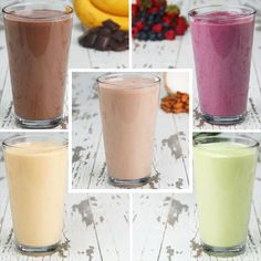 Protein Smoothies 5 Ways by Tasty