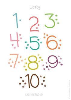 Darmowy plakat z liczbami