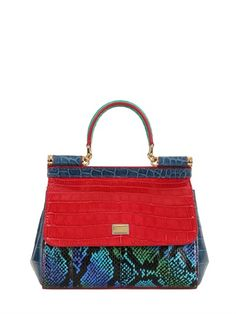 SMALL SICILY REPTILE PATCHWORK BAG