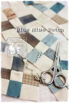 Pink Caramel: Blue Nine Patch 1