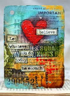 """""""Let whatever you do today be enough."""""""