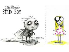 Tim Burton Stain Boy artwork