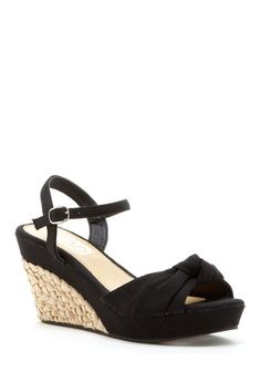 Carrini Knotted Ankle Strap Wedge, 19$, by Weekend Wedges on @HauteLook