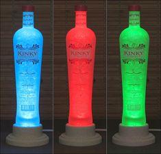 Kinky Vodka Liqueur Color Changing LED Remote Controlled